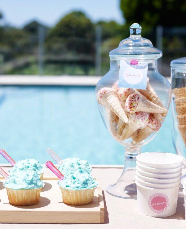 cupcakes and ice cream cones