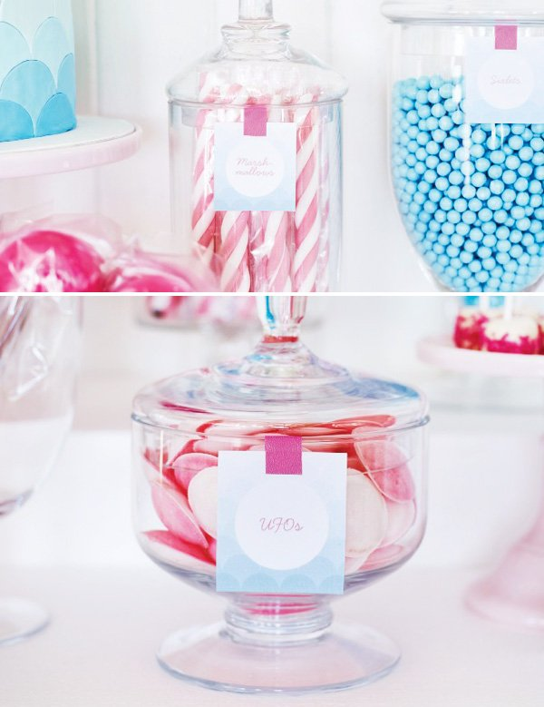pink candy ombre blue food labels