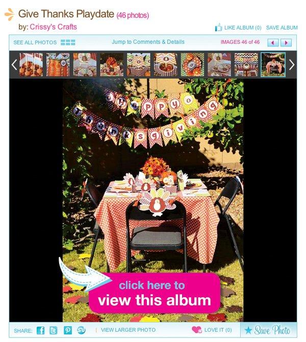 thanksgiving table album