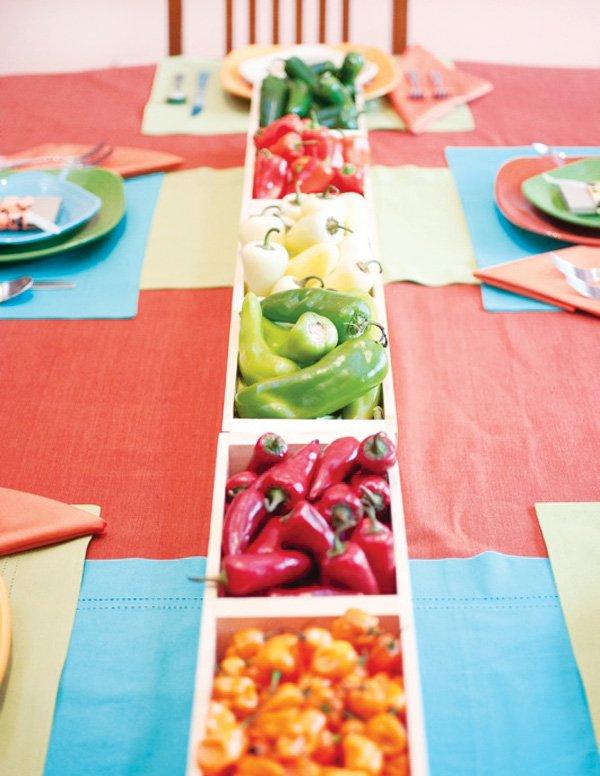 southwest pepper tablescape