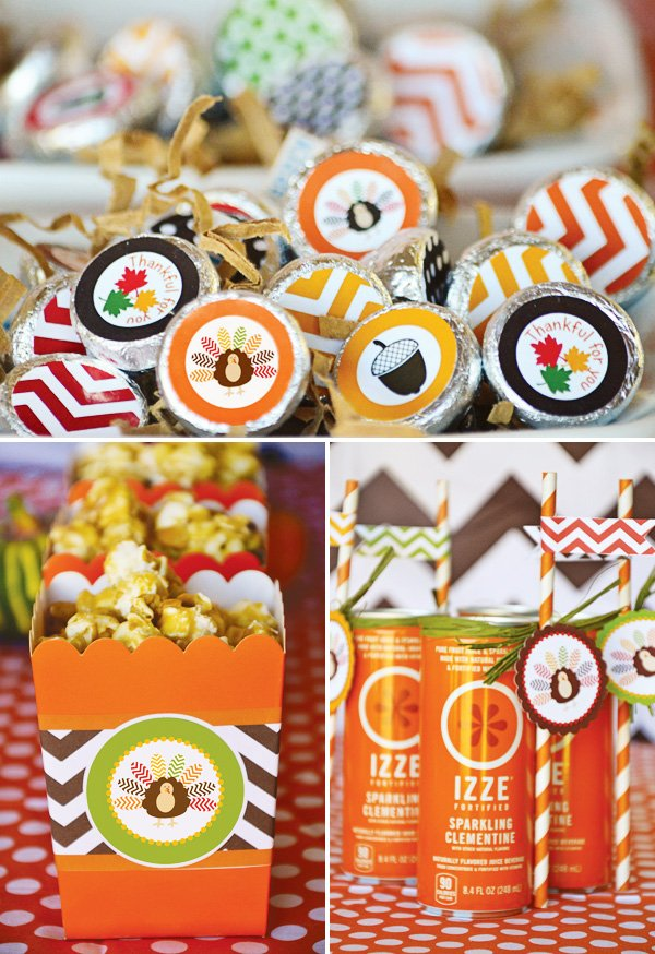 thanksgiving festive treats and drinks