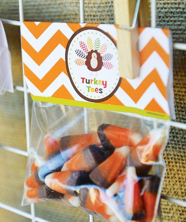 turkey candy bag