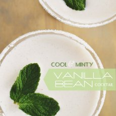 minty vanilla bean cocktail