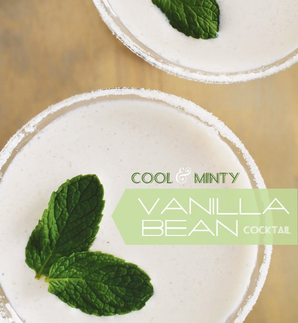 minty vanilla bean cocktail
