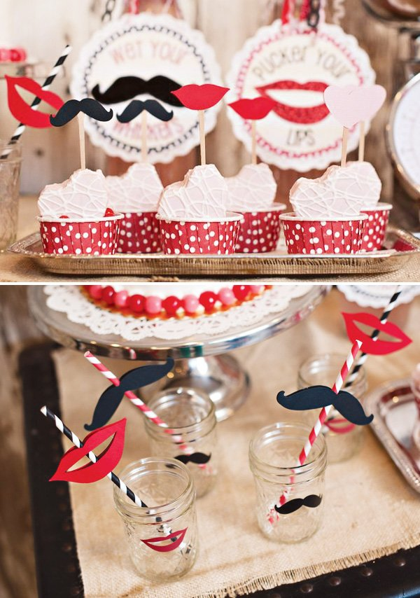 lips and mustache valentine party