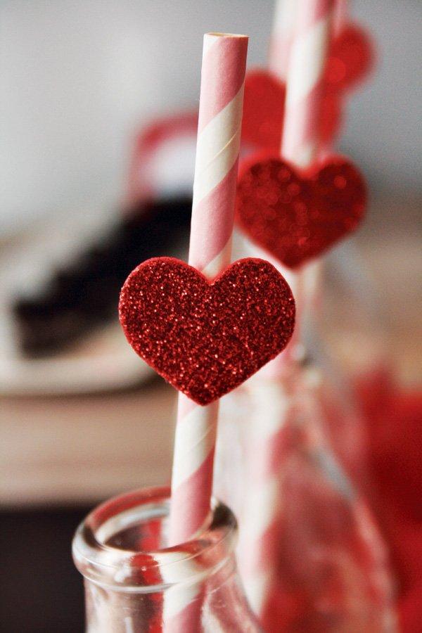 glitter red heart
