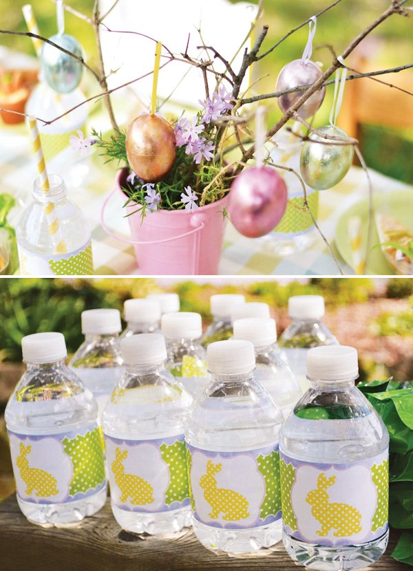 easter centerpiece idea for a kids easter playdate