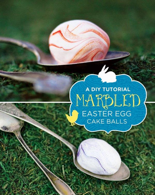 marbled easter egg cake pops