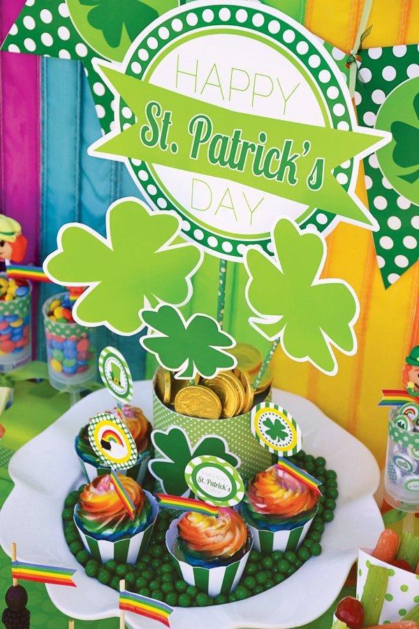 kids rainbow st. patrick's day party ideas