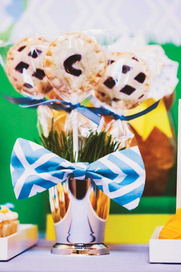 pie pops decorated with bow ties