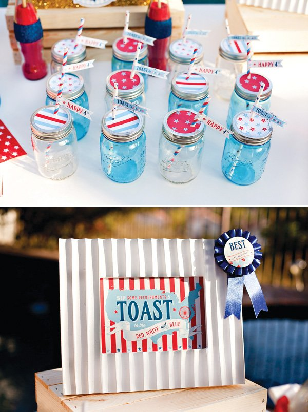 july 4th drinks station
