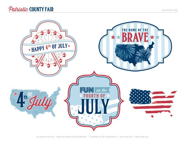 4th of July Silhouette Printables