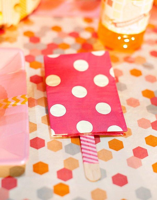popsicle napkin folding idea