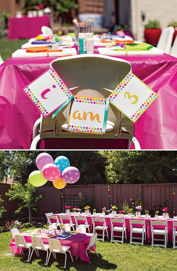 Pink & girly birthday party