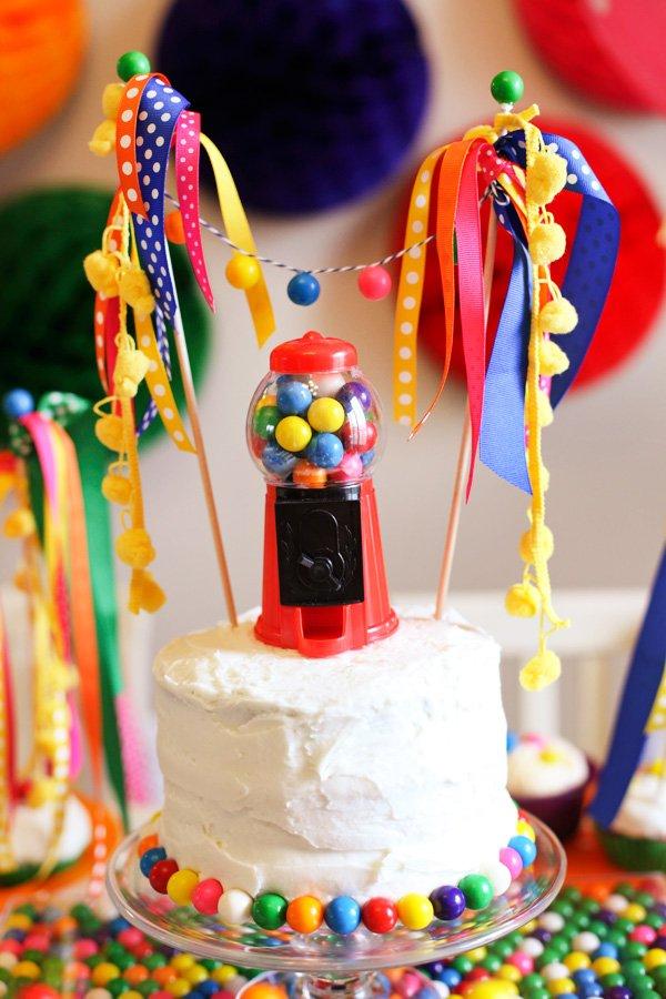 Rainbow Bubblegum Themed Birthday Party  Hostess with the Mostess