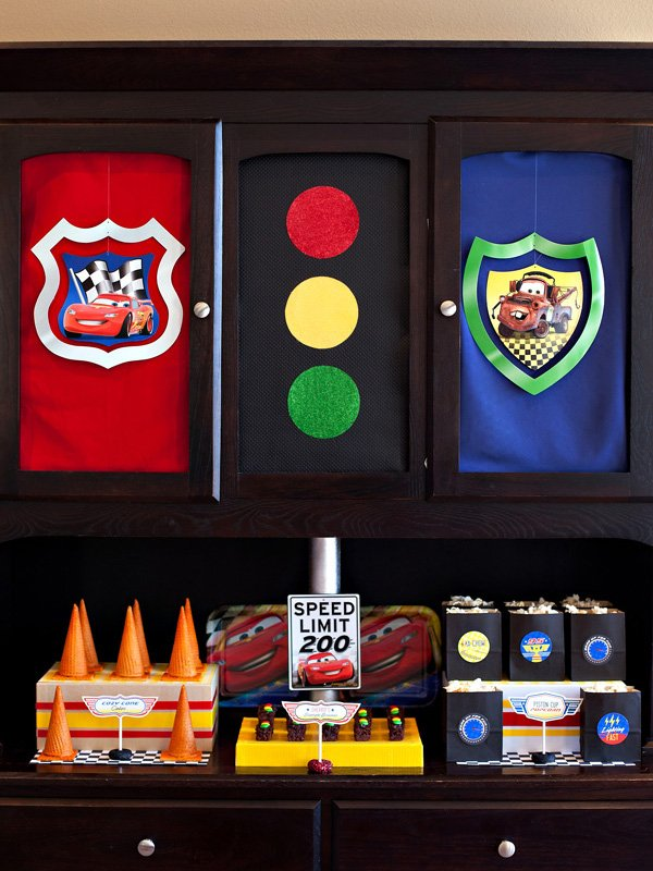 Disney Pixar Cars Dessert Table