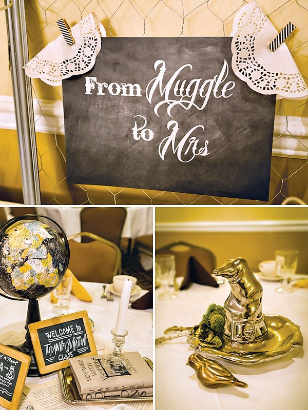 """Magical """"Harry Potter Romance"""" Bridal Shower // Hostess with the ..."""