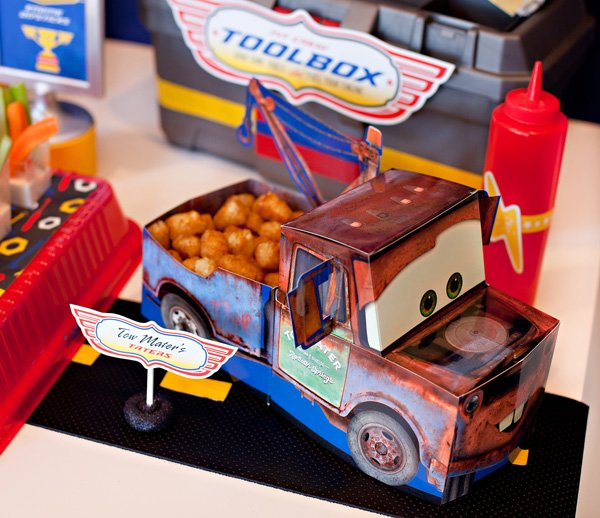 Tow Mater's Tater Tots - Disney Cars Party Food