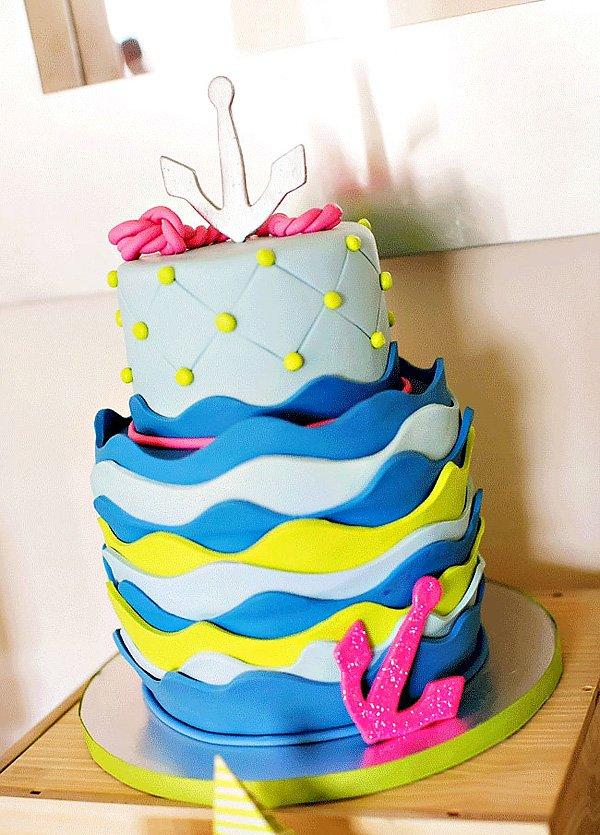 Colorful Nautical Cake