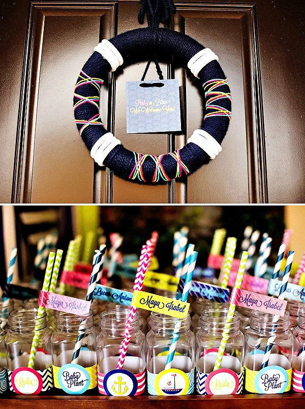 Colorful Nautical Gender Reveal Party