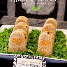 Smoky Cheddar Tombstone Sandwiches - Halloween