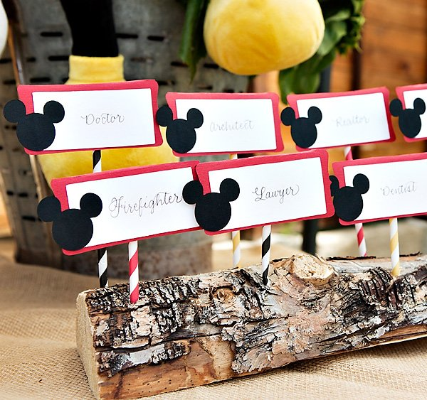 diy mickey mouse place cards