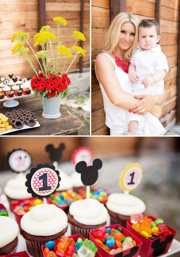 mickey mouse first birthday cupcakes