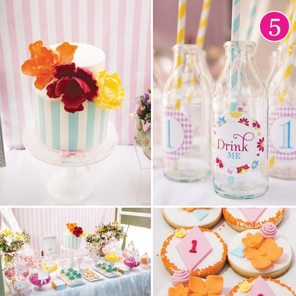 whimsy wonderland flowers and butterflies first birthday party