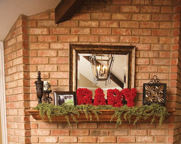 rustic and natural baby shower welcome sign and entrance