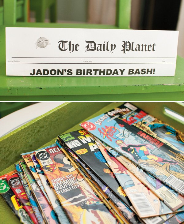comic books for a birthday party