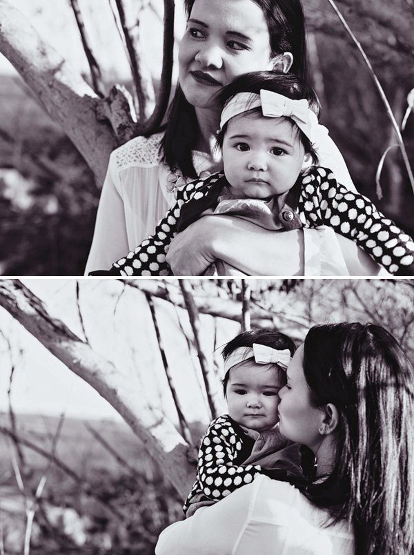 black and white mom and daughter photos