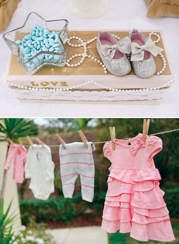 baby shower girl clothes decor