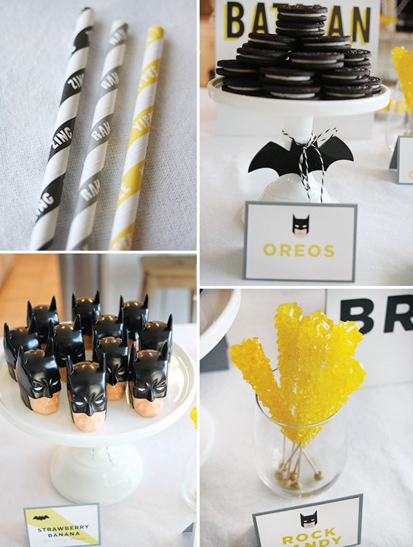 batman super hero themed desserts