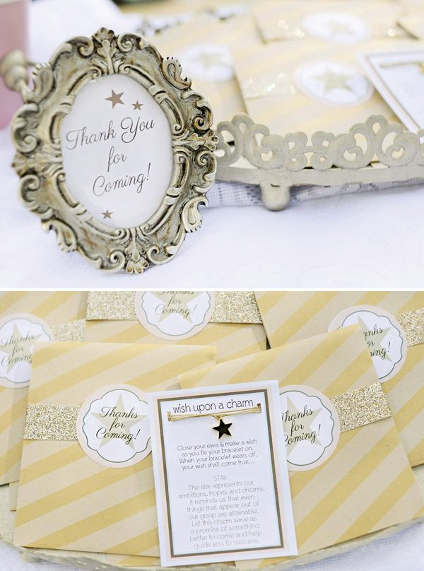 party favor 'make a wish' star charm