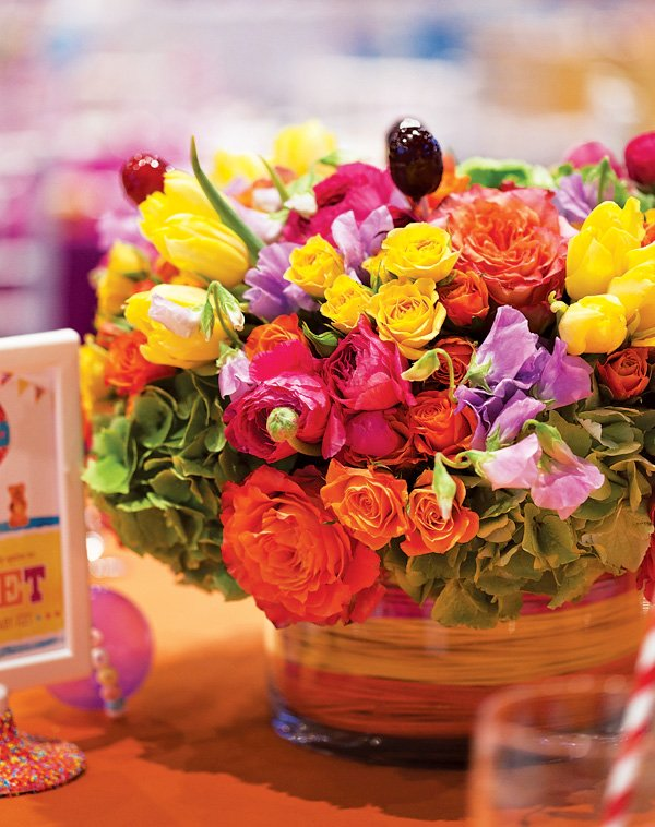 Rainbow Candy Flower Arrangements by The Empty Vase