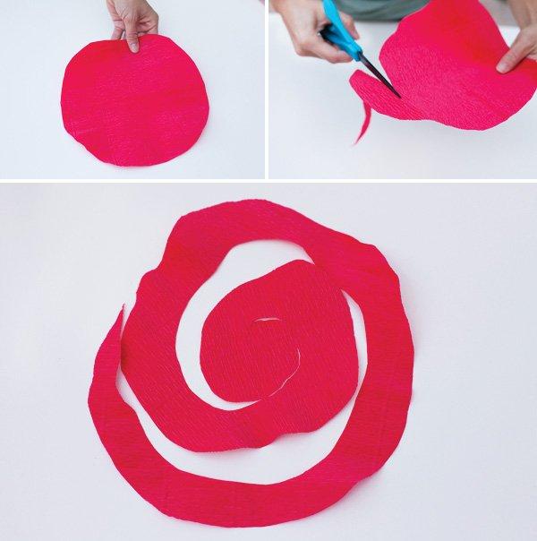 crepe paper roses tutorial 1
