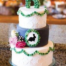 garden bunny gender neutral baby shower cake
