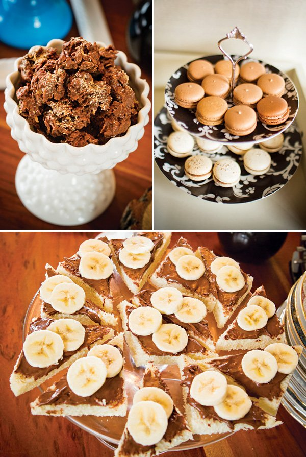 chocolate tea party desserts