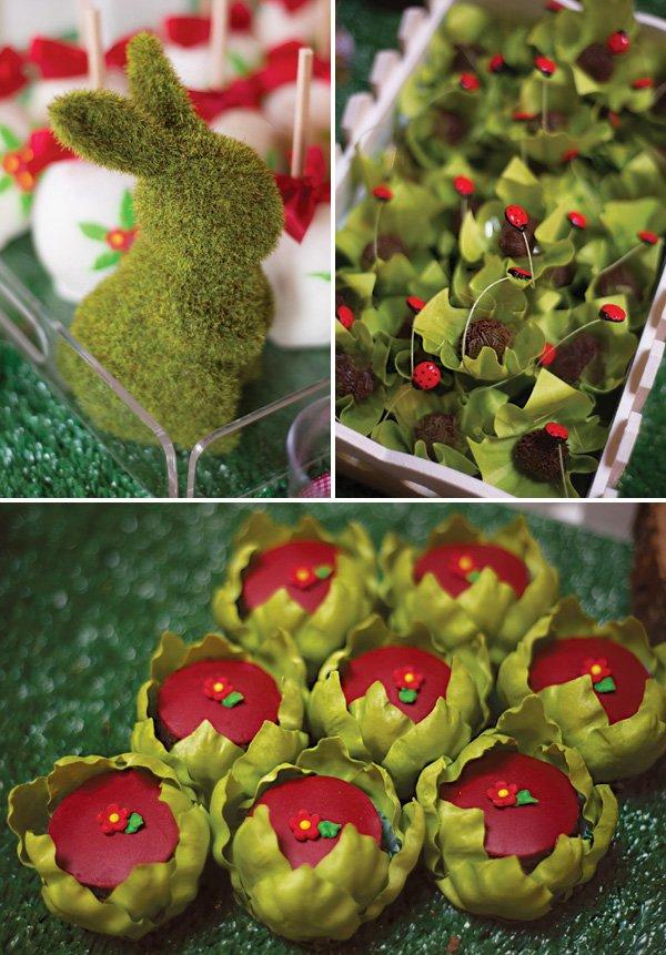 garden themed dessert and decor ideas