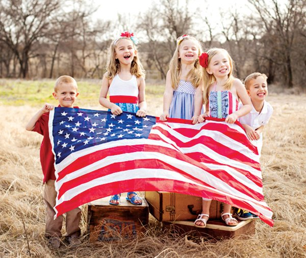 kids' patriotic 4of the july photo shoot