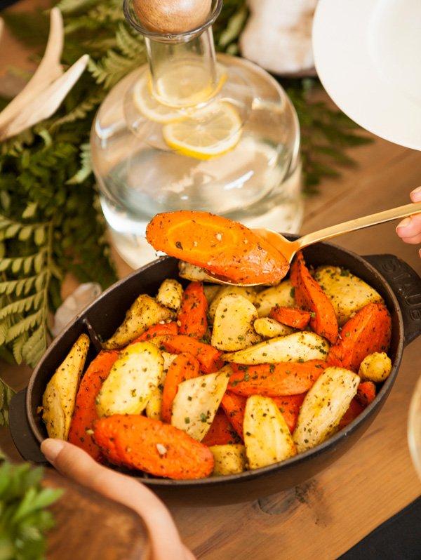 roasted carrot appetizer