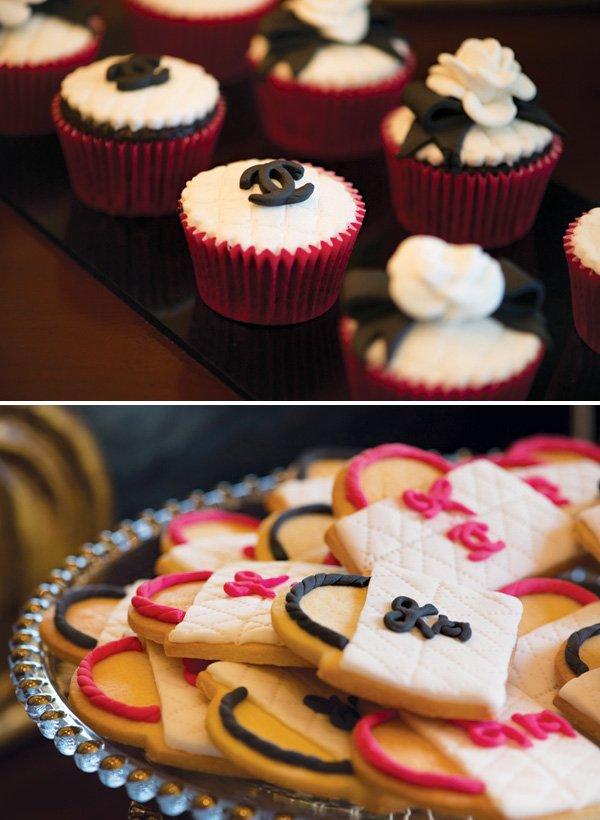 coco chanel birthday party dessert ideas