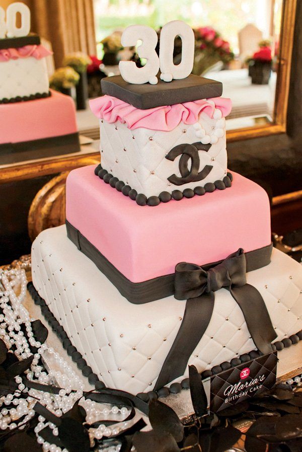 coco chanel 30th birthday cake