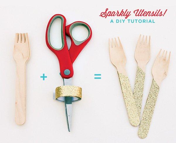 DIY Tutorial: Glittered Forks - Materials