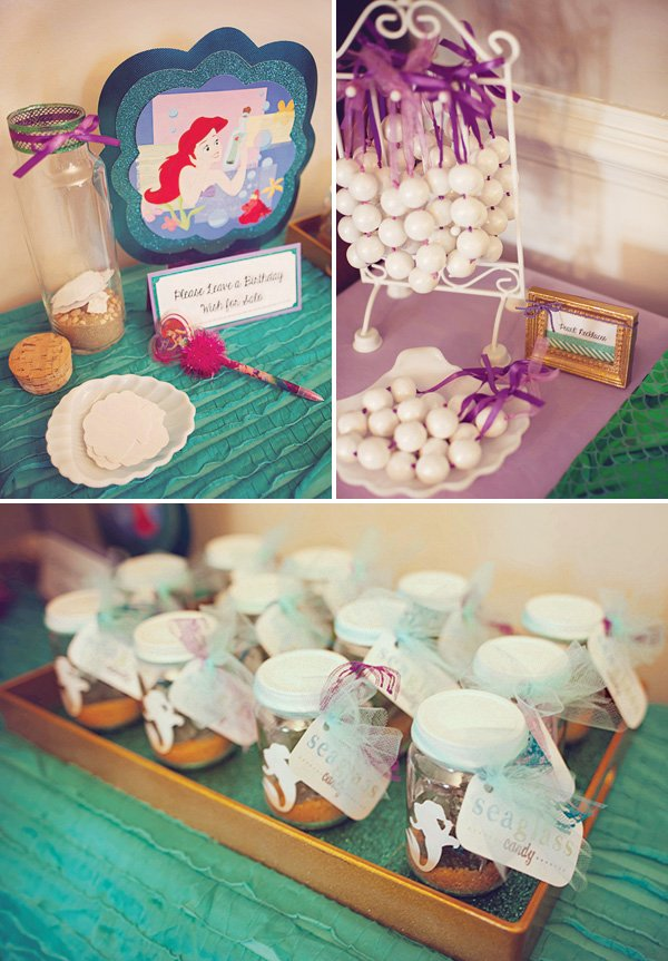 little mermaid birthday party activities and gumball pearl necklaces