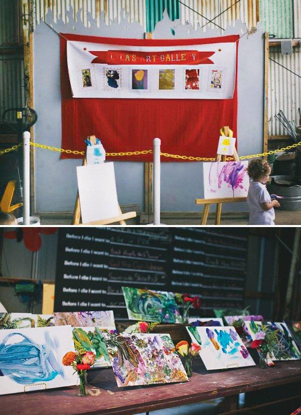 art birthday party gallery