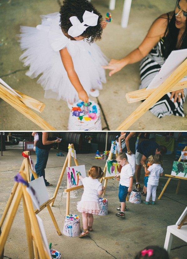 art birthday party painting activity