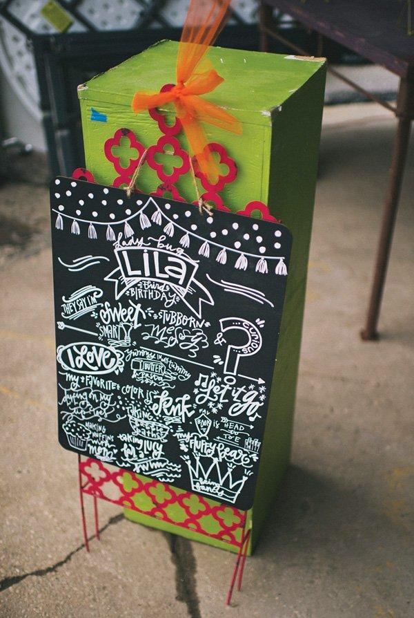 custom chalkboard birthday sign