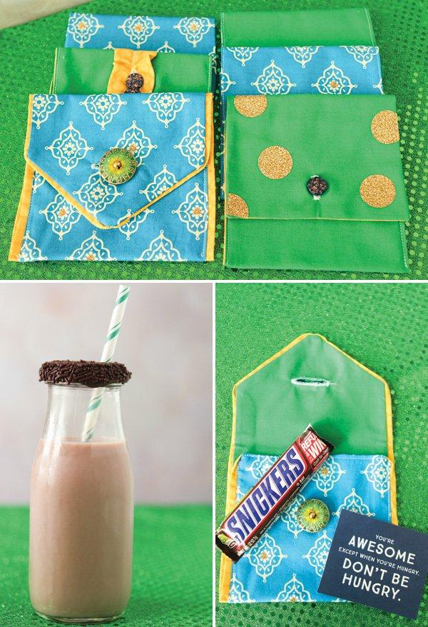 DIY party favor pouches