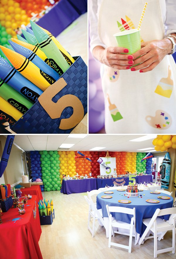 art themed 5th birthday party